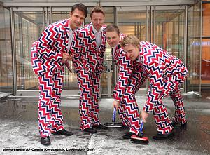 2014 Olympic Norwegian Curling Team uniforms
